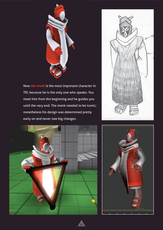 tri artbook example page